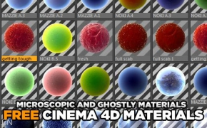 C4D材质 MICROSCOPIC AND GHOSTLY MATERIALS FOR CINEMA 4D
