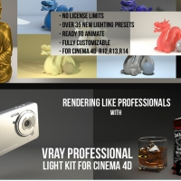 C4D VRAY灯光预设Cinema 4D Tutorial.Net - Vray C4d Proffessional Light Kit