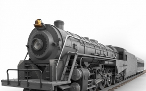 蒸汽火车C4D/3D模型 TurboSquid – Berkshire Steam Locomotive