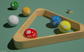 台球C4D模型(c4d for vray)Billiards