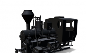 老火车头C4D模型 Locomotive 3D model